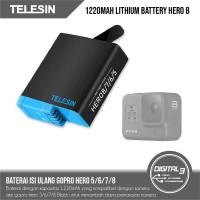 Baterai GoPro Hero 8 7 6 5 Black Telesin Battery Hero8 Black 1220mAh