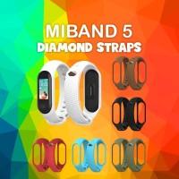 MIJOBS Silikon Diamond Strap MiBand 5 Replacement Strap Tali Pengganti
