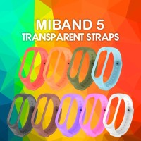 MIJOBS Silikon Transparent Strap MiBand 5