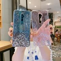 Case VIVO Y12 Y15 Y17 Realme U1 Transparent Star Glitter Clear TPU