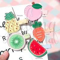 Jepit Rambut Big Fruit Watermelon Peach Kiwi Lucu GH 201781