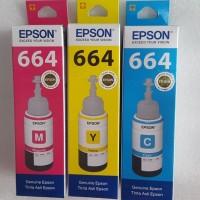 Tinta Epson 664 Cyan Magenta Yellow ORIGINAL 100%