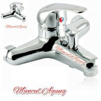 Kran air panas dingin Chrome stainless merk kranz KM03