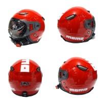 Helm Bogo Retro JPN Momo Pilot Merah Ferrari Glossy