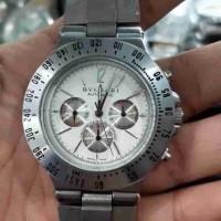 jam tangan otomatis pria sports chrono aktiv mulus rantai panjang