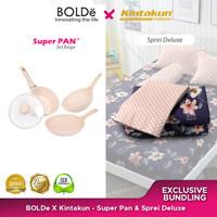 Exclusive Bundling Bolde X Kintakun -Set Pan Beige & Sprei Deluxe Ing