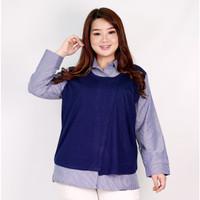 Kemeja Lengan Panjang Wanita Big Size SUPER BIG Hoshiko