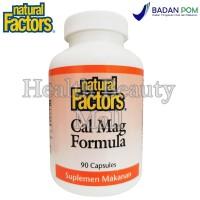 Natural Factors Cal Mag Formula 90 Caps - Memelihara Kesehatan Tulang