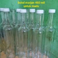 botol kaca bekas sirup marjan 460mil