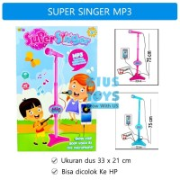 Microphone Super Singer MP3 Karaoke |Mainan Mik Nyanyi | Single Mic