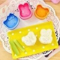 C14 Cetakan Bento / Nasi Rice Mold isi 3 / cetakan nasi