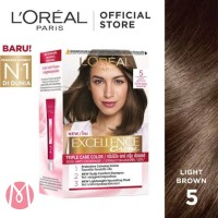 Loreal Excellence Creme No 5 Light Brown - Cat Rambut Loreal