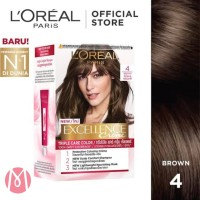 Loreal Excellence Creme No 4 Brown - Cat Rambut Loreal