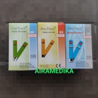 Easytouch Paket Strip Stik Gula Darah Asam Urat dan Kolesterol