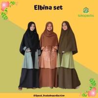 GAMIS ELBINA SET DRESS+OUTER (tanpa hijab) size S M L XL matt MOSCREPE