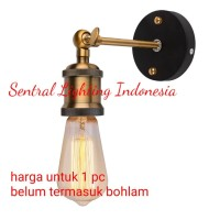 LAMPU DINDING TANGKAI GOLD VINTAGE RETRO INDOOR FITTING E27 DEKORASI