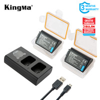 Baterai KINGMA Sony 2-pack NP-FW50 and Dual Charger LCD -Garansi Resmi