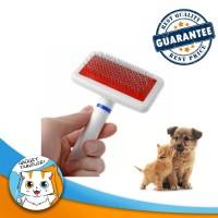 Wire Pet Slicker Brush / Sisir Hewan Anjing Kucing Grooming Comb