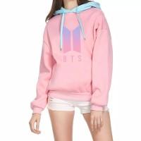 Sweater BTS Hoodie Wanita Jaket Kpop Cewek Army