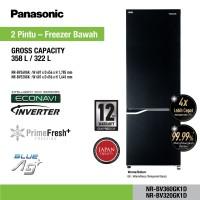 Kulkas Panasonic 2 Pintu Bottom Freezer NR-BV320GK Inverter 320 322 L