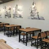 Meja set cafe / meja resto / meja kedai / meja makan