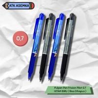 Pulpen Pen Frixion Pilot 0.7 HITAM BIRU ( Bisa Dihapus ) - Hitam