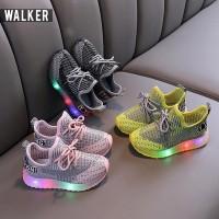 Sepatu Sport Sneaker Anak Laki-laki Perempuan Casual Bayi Lampu LED