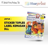 Kertas Stiker Glossy / Sticker Glossy Photo Paper BLUEPRINT A4 120 gsm