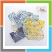 VQ833 Celemek Baju Anak Bib Slabber Waterproof
