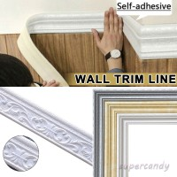 Wall Trim Line Skirting Border 3D Pattern Sticker Decoration Self