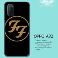 Casing Custom OPPO A92 Foo Fighters Band Logo Gold E1162