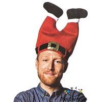 Topi Santa Claus Warna Merah untuk Kostum Natal Dewasa