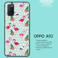 Casing Custom OPPO A92 Flamingos Pattern Blue Q0256