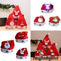 Topi Santa Claus / Rusa / Snowman untuk Kostum Natal Anak / Dewasa