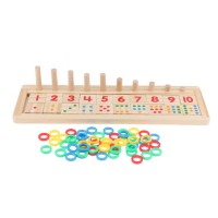 1 Kids Educational Toys Color Number Counting Stacker Montessori