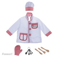 Kids Chef Role Play Costume Set Girls Boys Cook Baking Outfit Fancy