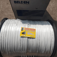 Kabel Belden 100M RG59 CCTV Coaxial + Power 9105SL2P Putih Original
