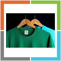 PD781 Eco Soft Kaos Polos Irish Green 100 Ringspun Cotton 30s Cocok un