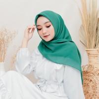Jilbab Segi Empat | Jilbab Harian | Hijab Harian Hijau Tosca
