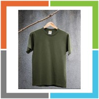 TR388 Eco Soft Kaos Polos Military Green 100 Ringspun Cotton 30s Cocok