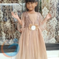 BAJU PESTA ANAK PEREMPUAN P1DT142 PESTA DRESS LACE TILE 3 4 5 TH KODE