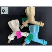 Keran/Kran Air Taman Plastik Sanho (Model Putar)(mudah pasang selang)