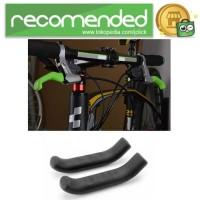 Silikon Pelindung Handle Rem Tangan Sepeda 2PCS - Hitam