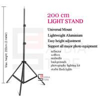 Portable Light Stand Tripod 200cm for Studio Lightning, Ring Light etc