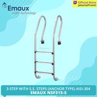 Tangga Kolam Renang 3 Step EMAUX NSF315-S AISI 304 Pool Ladders 3 Step