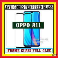 OPPO A11 6.5 INCH 2019 ANTI GORES TEMPERED GLASS FULL BLACK 910596