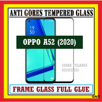 OPPO A52 2020 6.5 INCH ANTI GORES TEMPERED GLASS FULL BLACK 910598