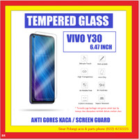 VIVO Y30 6.47 INCH ANTI GORES TEMPERED GLASS KACA TRANSPARANT 910627