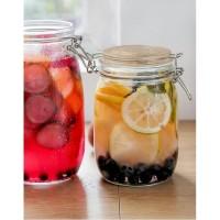 Hermetico 1L/Storage Jar/Toples Kaca/Toples Kue/Toples Bubuk/ 1L/ Jar