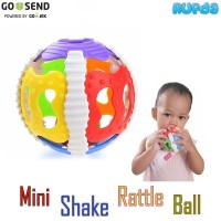 Mini Shake Rattle Ball Mainan Anak Bayi Gigitan Bola Berbunyi